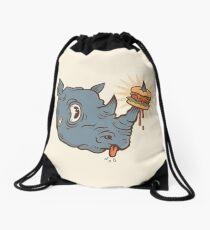 Rhino Burger YUM! Drawstring Bag