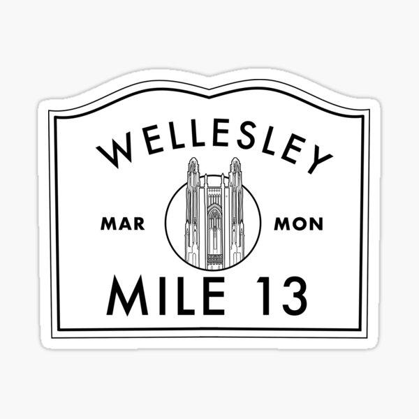 Boston Marathon (MarMon) Wellesley College Sign Sticker