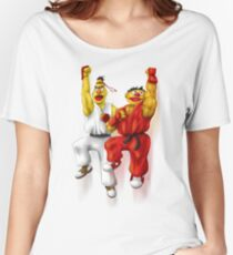 Sesame Street Fighter: Beryu & Kernie Women's Relaxed Fit T-Shirt