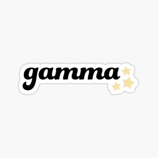 gamma Sticker