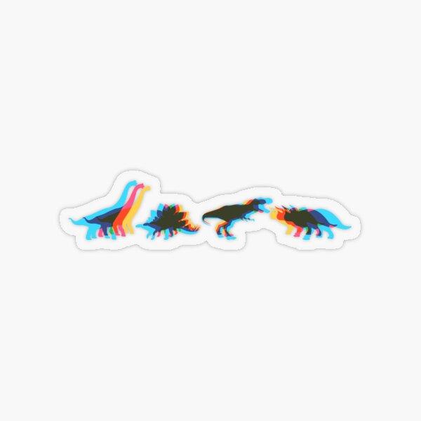 Dinosaur Kaleidoscope Transparent Sticker