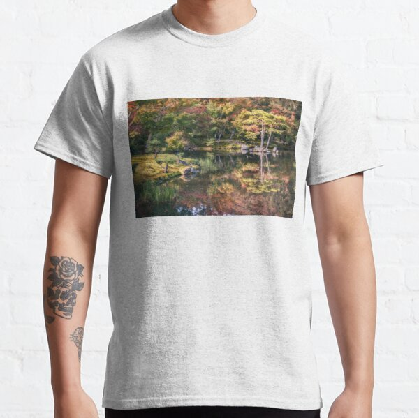 Japanese Garden, colorful in autumn in Kyoto,Japan. Classic T-Shirt