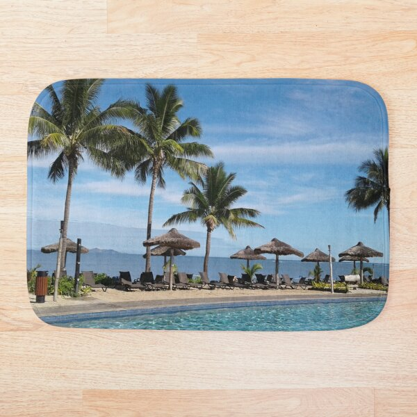 FIJI Islands Paradise Palms Bath Mat