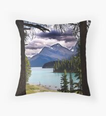 Clearing Sky, Calm Water Throw Pillow
