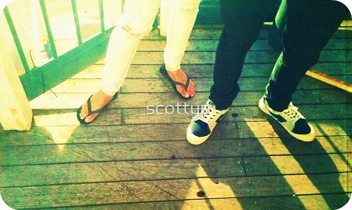 thongs Vs sneakers by scottyp