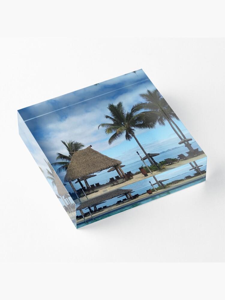 Alternate view of FIJI Islands Fijian Bure Acrylic Block