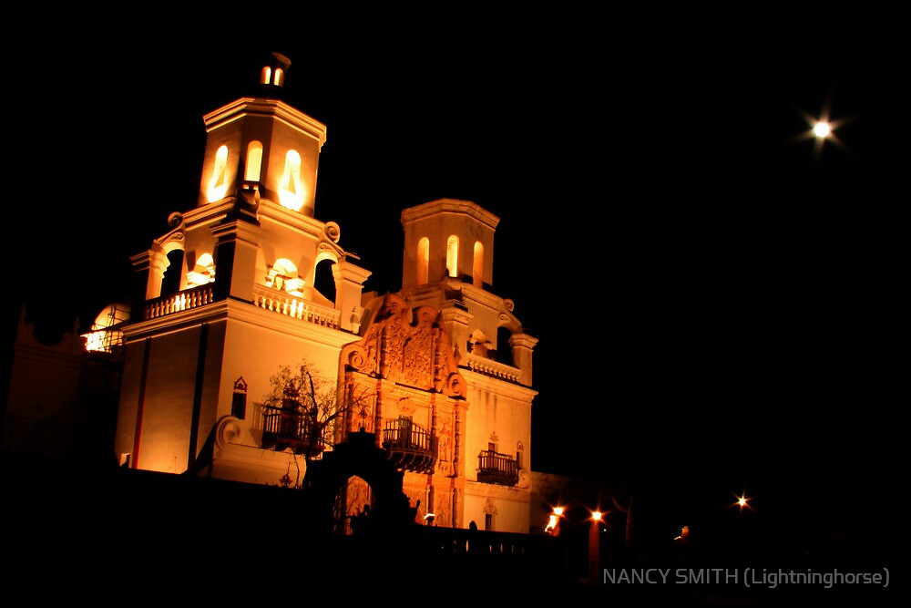 San Xavier Mission by NANCY SMITH (Lightninghorse)