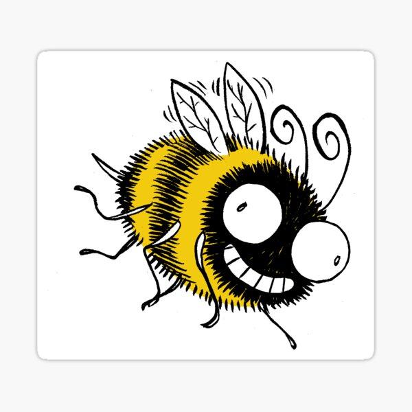 That crazy bee Sticker