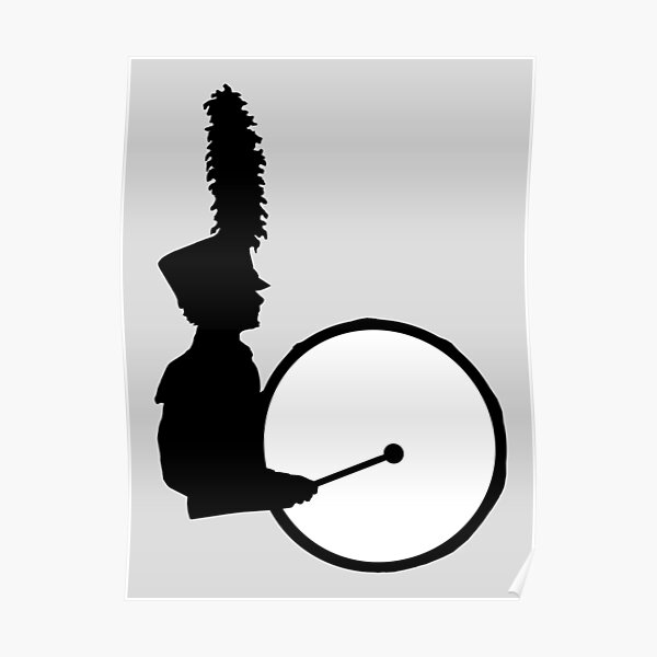 Marching Band Bass Drummer Poster