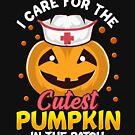 Ich interessiere mich für die nettesten Kürbise! Krankenschwester Halloween Geschenk von Charles Mac