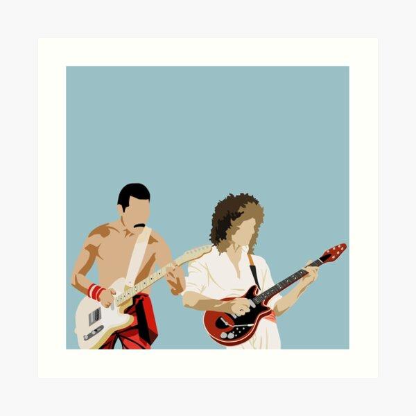 Minimal Freddie and Brian Art Print