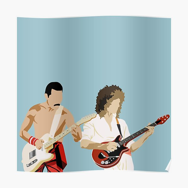 Minimal Freddie and Brian Poster