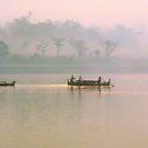 Mysterious Lay Myo River at Dawn by Brian Bo Mei