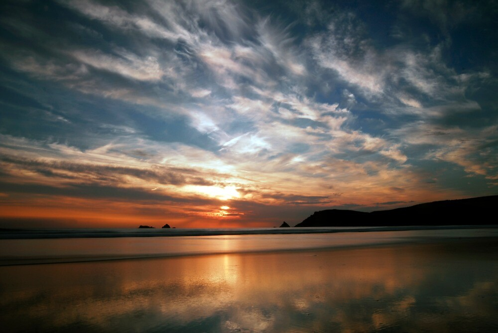 cornwall sunset by stiddy