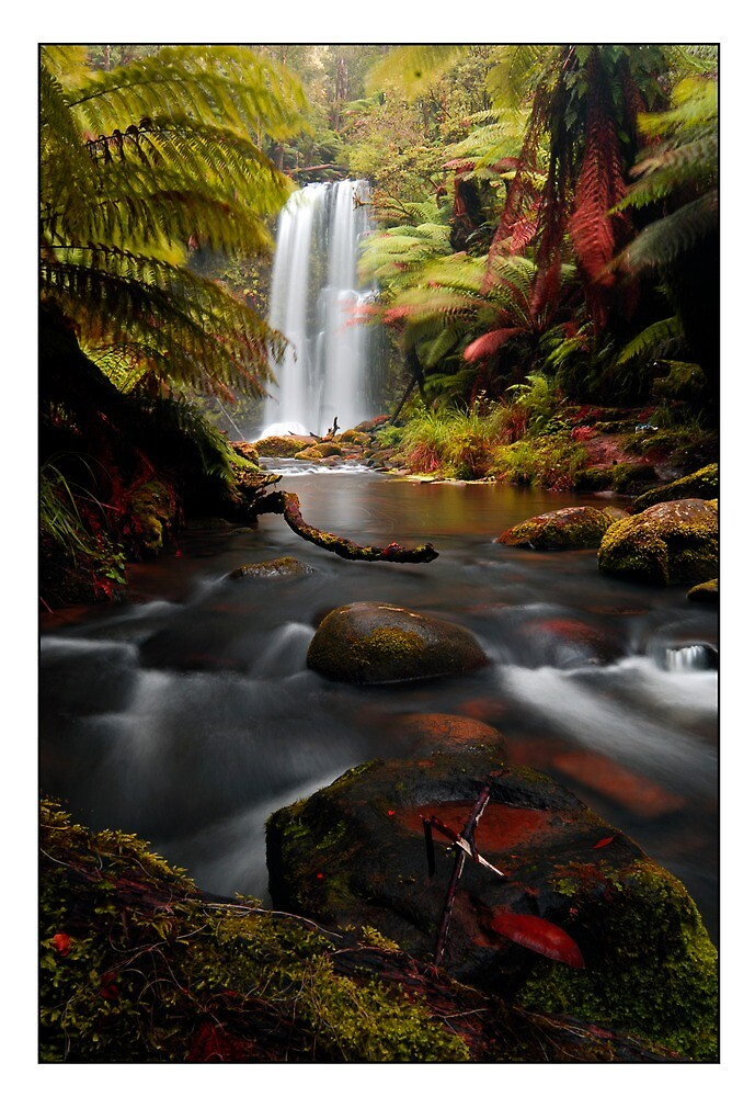 winter waterfall by stiddy
