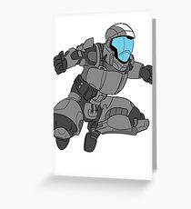 Jumping ODST Greeting Card