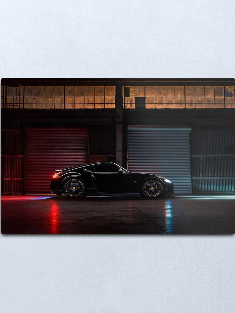 Alternate view of Light Painted Nissan 370Z Metal Print