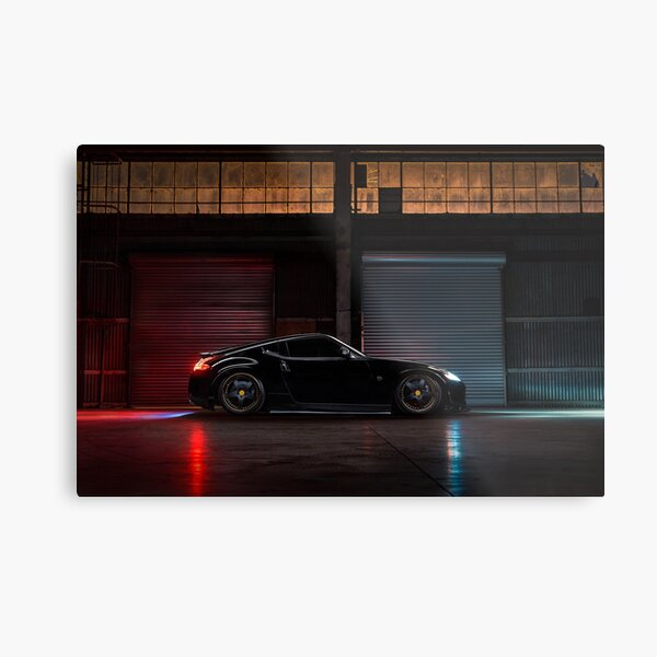 Light Painted Nissan 370Z Metal Print