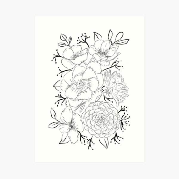 Amazing bouquet Art Print