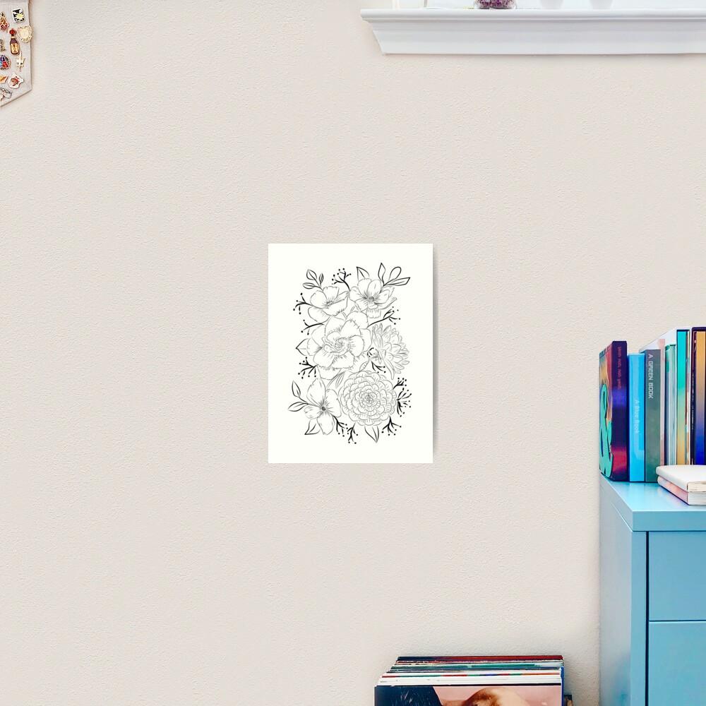 Amazing bouquet Art Print