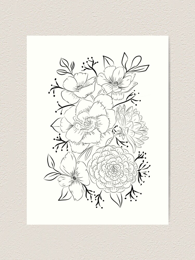 Alternate view of Amazing bouquet Art Print