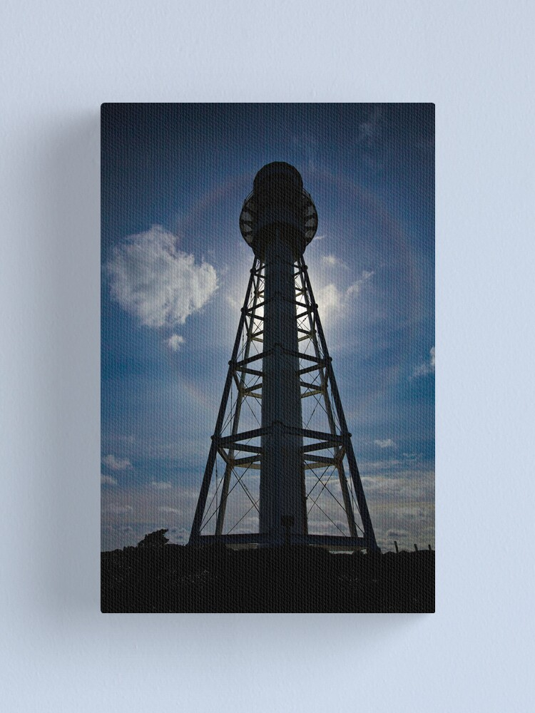 Alternate view of Lighthouse Halo - Currie, King Island,Tasmania Canvas Print