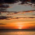 carribean sunset by stiddy
