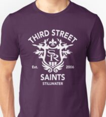 Saints Row 3 Tribute Distressed White T-Shirt