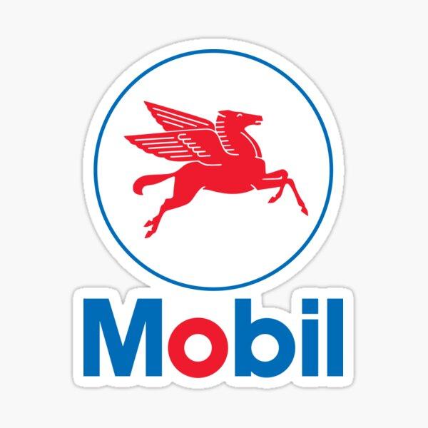 Mobil Retro Pegasus Logo Sticker