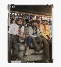 Crow Native Americans watching the rodeo at Crow fair in Montana, 1941 iPad Case/Skin