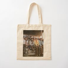 Crow Native Americans watching the rodeo at Crow fair in Montana, 1941 Cotton Tote Bag