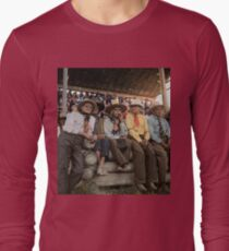 Crow Native Americans watching the rodeo at Crow fair in Montana, 1941 Long Sleeve T-Shirt