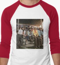 Crow Native Americans watching the rodeo at Crow fair in Montana, 1941 Baseball ¾ Sleeve T-Shirt