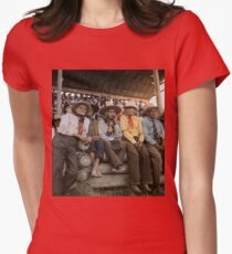 Crow Native Americans watching the rodeo at Crow fair in Montana, 1941 Fitted T-Shirt