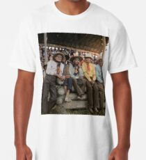 Crow Native Americans watching the rodeo at Crow fair in Montana, 1941 Long T-Shirt