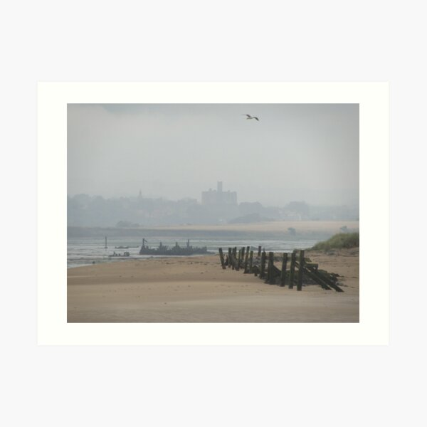 Amble Foreshore Art Print