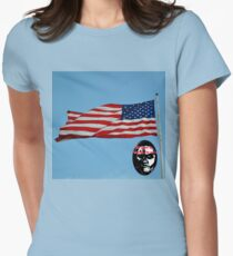 USA Flag Women's Fitted T-Shirt
