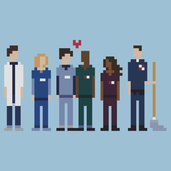 TShirtGifter presents: Everybody's Favorite Doctors.