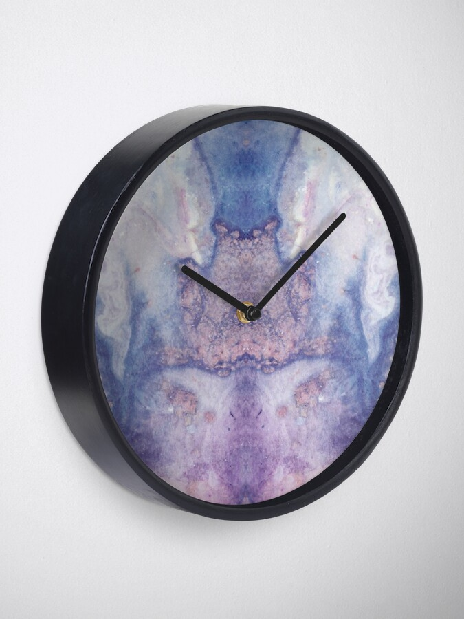 Alternate view of Purple Amethyst Clock