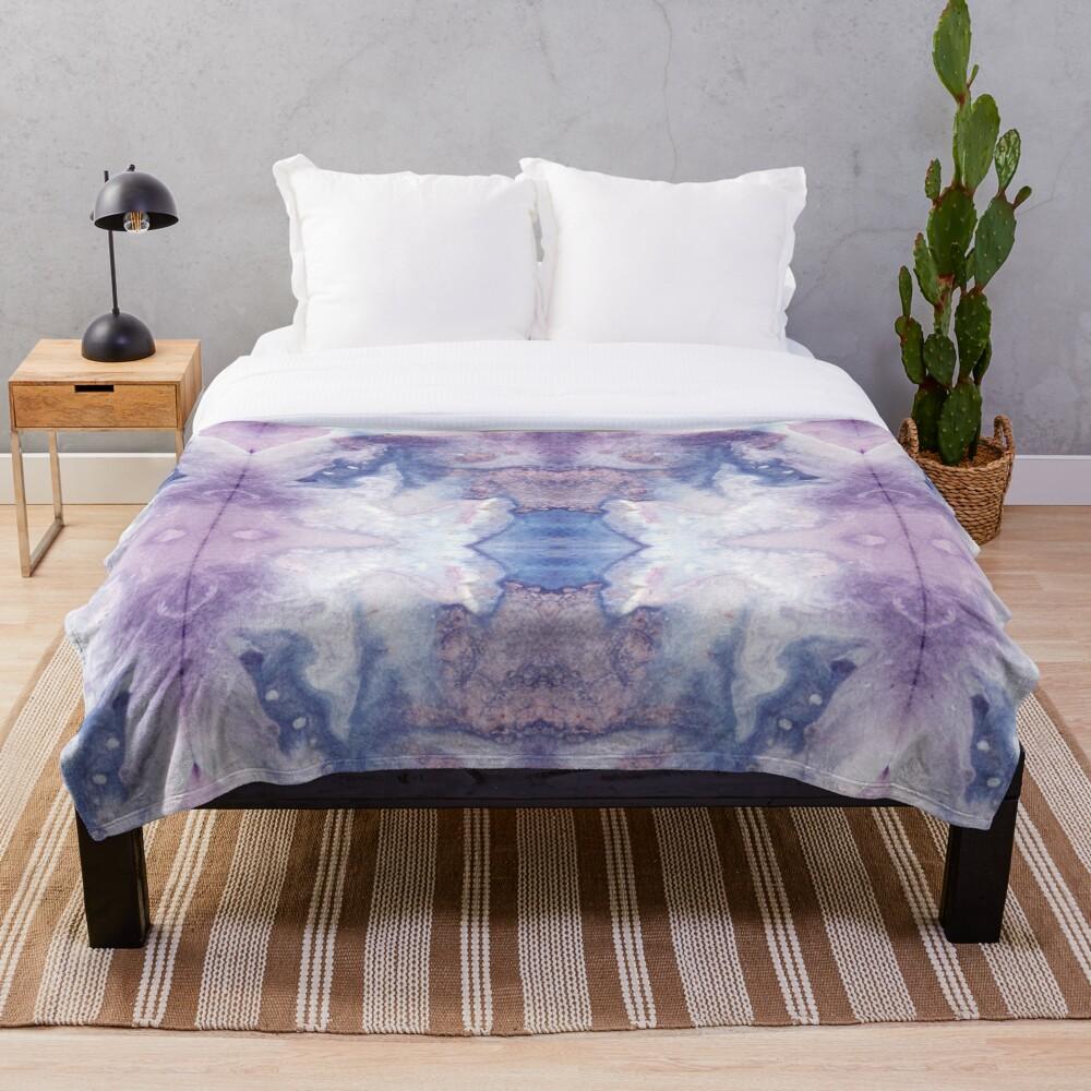 Purple Amethyst Throw Blanket