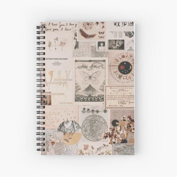 Cute vintage collage Spiral Notebook