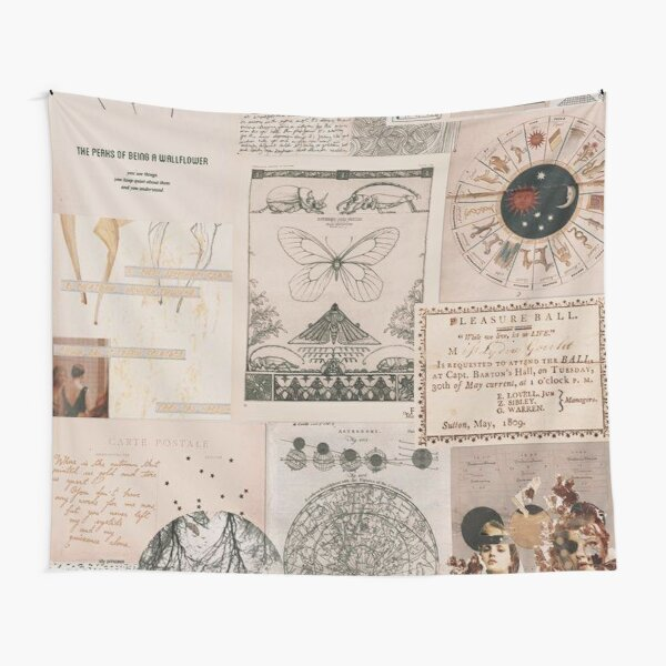 Cute vintage collage Tapestry
