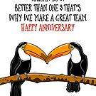 Funny Toucan Anniversary Greeting by Adam Regester