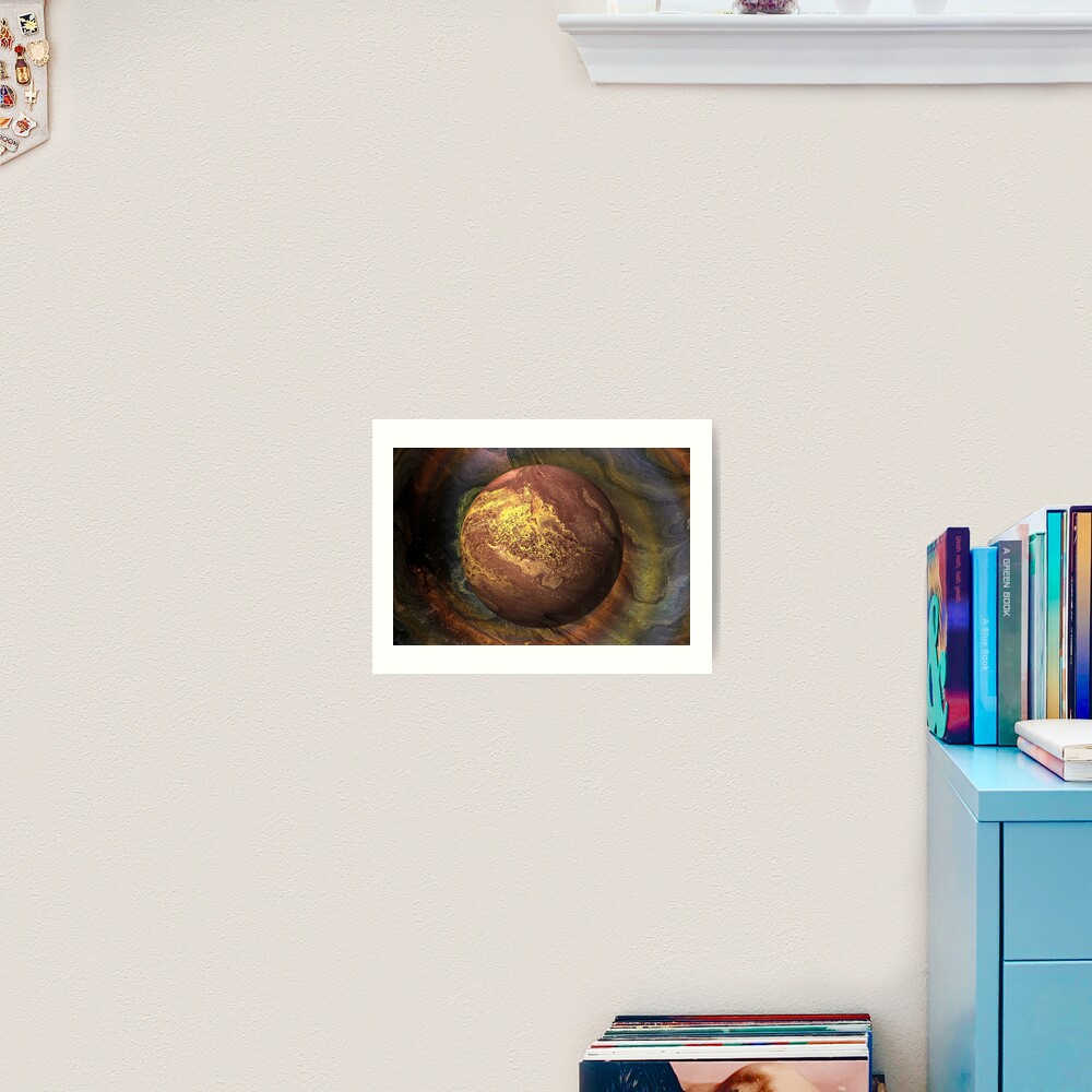 Desert Moon: outer space planet Art Print