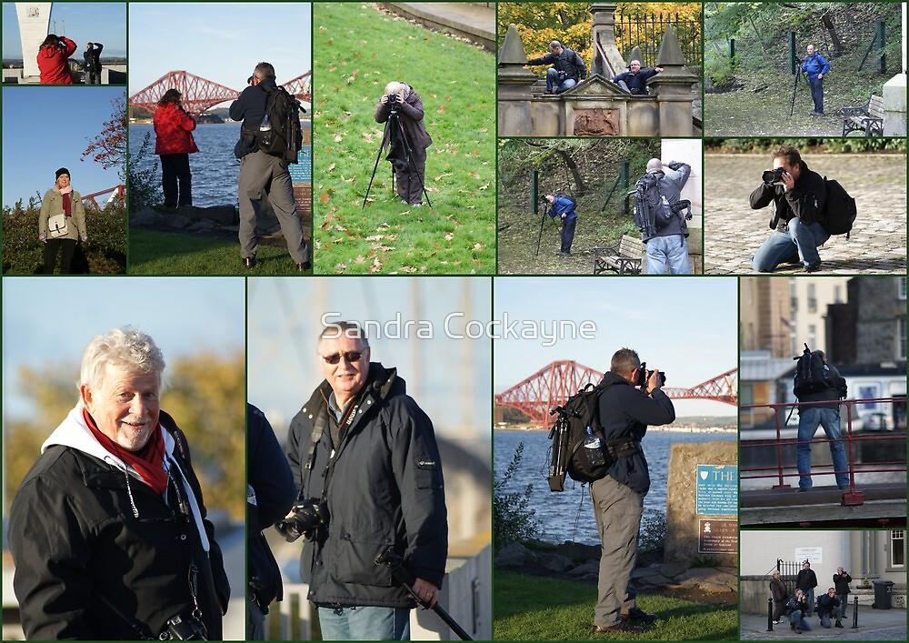 Collage of the Guys & Gals (#2) Edinburgh Bubblemeet by Sandra Cockayne
