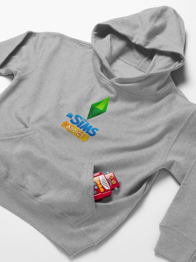 Alternate view of I'm The Sims Addict Kids Pullover Hoodie