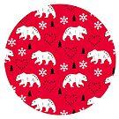 Winter bear red by MiaMeaDesign