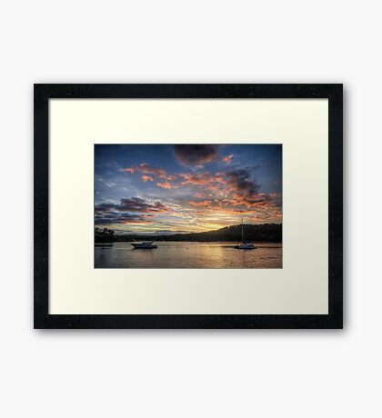 Sunset Blessings - Newport, Sydney - The HDR Experience Framed Print