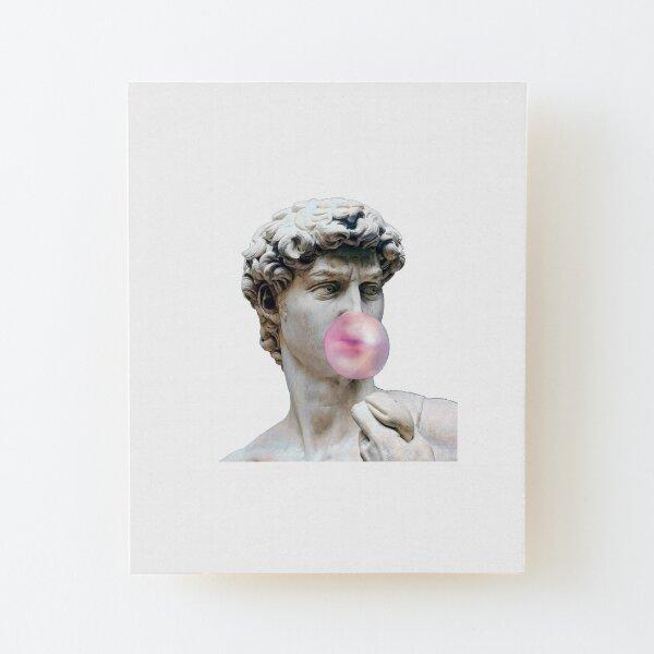 David Canvas Wall Decor Renaissance Sculpture Collage David Blowing Bubble Gum