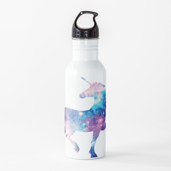 Cosmic watercolor unicorn Water Bottle